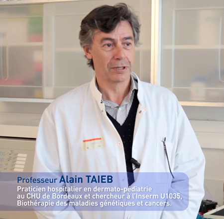 Alain Taïeb (Bordeaux, France) awarded with the first ESPCR Award at the forthcoming ESPCR meeting in Rennes (picture from https://vimeo.com/92927027)