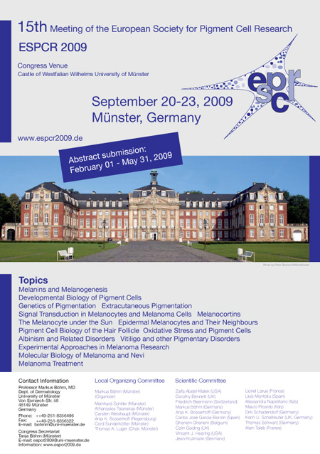 ESPCR 2009 meeting, Muenster (Germany), September 20-23, 2009