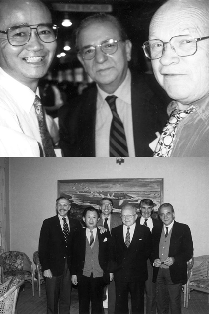 Above (from left to right): Shosuke Ito, Giuseppe Prota and Hans Rorsman. Below (from left to right): James Nordlund, Yutaka Mishima, Richard King, Hans Rorsman, Joseph Bagnara, and Giuseppe Prota. Pictures kindly provided by Alessandra Napolitano.