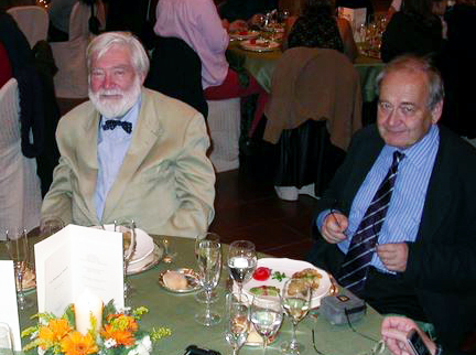 Jan Borovansky (right) with Patrick Riley, at the 14th ESPCR meeting in Bari (Italy), in 2007