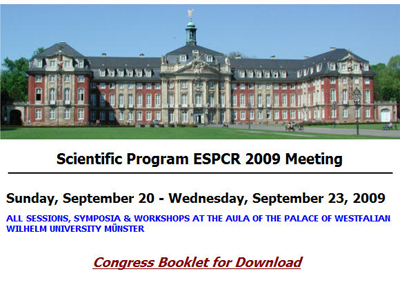 ESPCR 2009 meeting booklet available to download