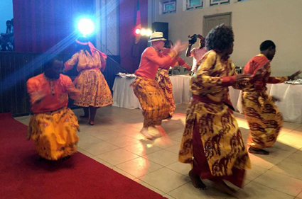 Dances at the Gala Dinner of the Albinism Conference in Douala (click on image for VIDEO)
