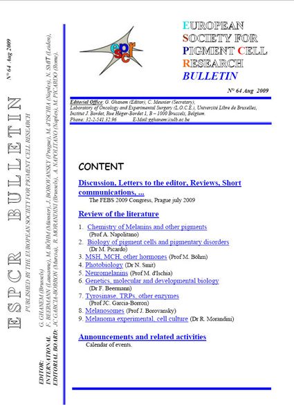 ESPCR Bulletin number 64 (August 2009)