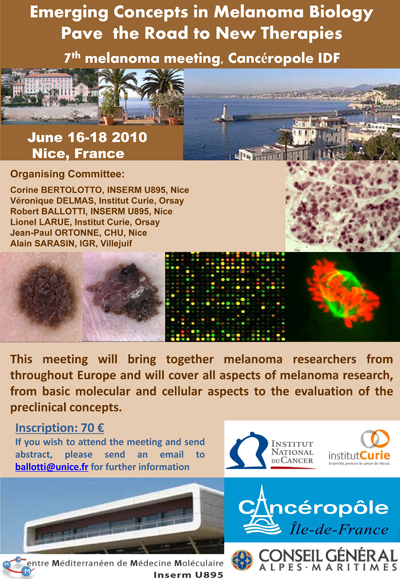 7th Melanoma Meeting, Nice, France, June 16-18, 2010